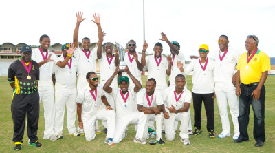 Jamaica beat Windward Islands on points to take home the Headley-Weekes Trophy © WICB