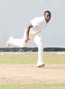 Keon Morris bowled impressively yesterday