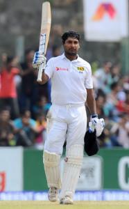 Kumar Sangakkara raised a 37th Test hundred © AFP