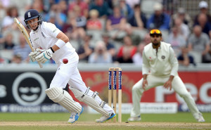 Joe Root clips the ball into the leg side © Getty Images