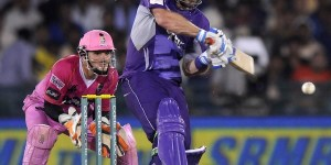 Aiden Blizzard lines up to pull © BCCI