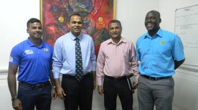 From left: KJ Singh, Frank Anthony, Anand Sanasie, Colin Stuart