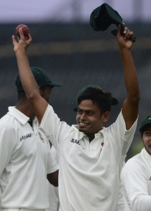 Taijul Islam's 8 for 39 were the best figures in Bangladesh history © AFP