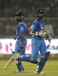 Shikhar Dhawan and Ambati Rayudu added 122 for the second wicket © BCCI