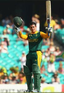 Quinton de Kock raises his sixth ODI century © Getty Images