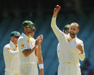 Nathan Lyon celebrates his five-for © Getty Images