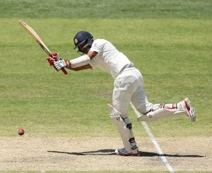 Cheteshwar Pujara plays the flick © Getty Images