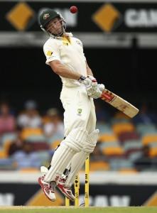 Shaun Marsh avoids a short ball © Getty Images