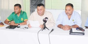 Some members of the Guyana Cricket Board Executive at the press conference following the AGM