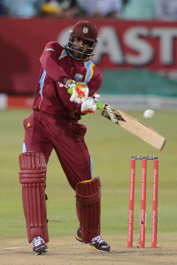 Chris Gayle provided some fireworks at the start of the chase © Gallo Images