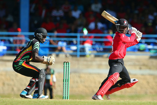 Jason Mohammed plays a cut © WICB
