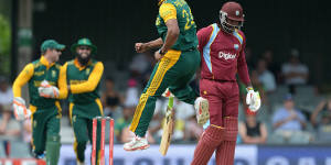 Vernon Philander had Chris Gayle caught behind cheaply © Gallo Images