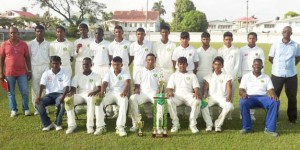 Demerara U-17 winning team