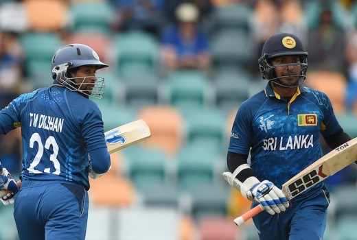 Kumar Sangakkara and Tillakaratne Dilshan put on 195 for the second wicket © AFP