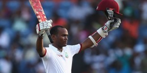 Kraigg Brathwaite recorded his fourth Test hundred as West Indies replied strongly ©