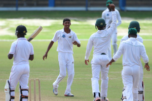 Motie celebrates a wicket