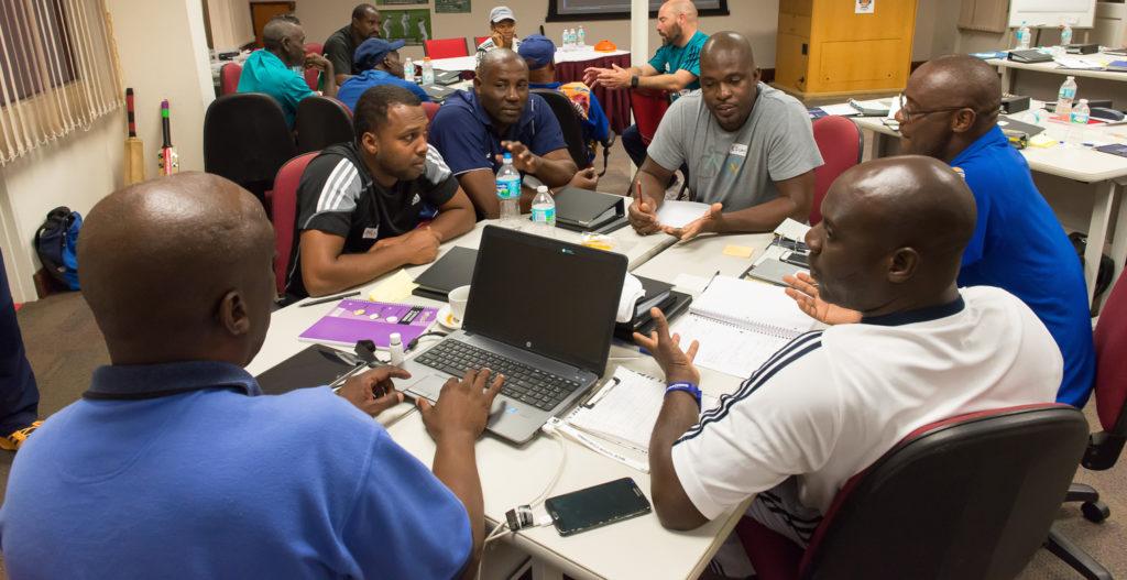 Guyanese coaches: Rayon Griffith, Esuan Crandon, Julian Moore and Colin Stuart