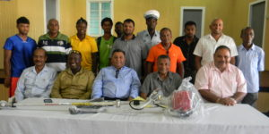 GCB presents brush cutters to cricket clubs in Berbice