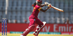 MUMBAI, INDIA - MARCH 31:  Stafanie Taylor, Captain of the West Indies hits the ball towards the boundary during the Women's ICC World Twenty20 India 2016 Semi Final match between New Zealand and West Indies at the Wankhede Stadium on March 31, 2016 in Mumbai, India.  (Photo by Matthew Lewis-IDI/IDI via Getty Images)