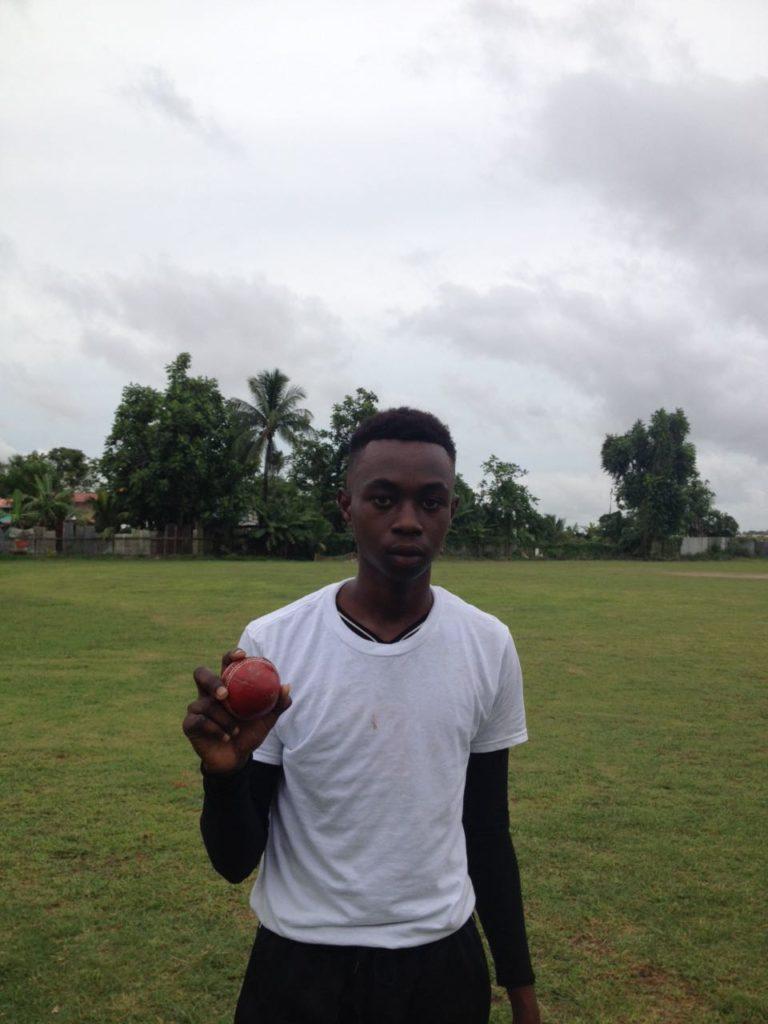 Kemar Ferera of West-Dem Secondary School