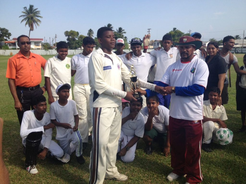 West Coast Demerara champions, Saraswat Secondary School